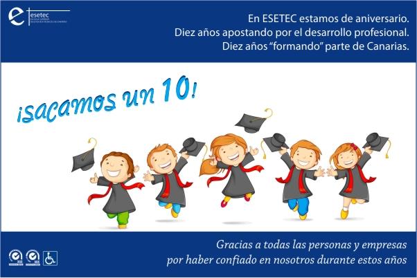 10 años apostando por la formación en Canarias