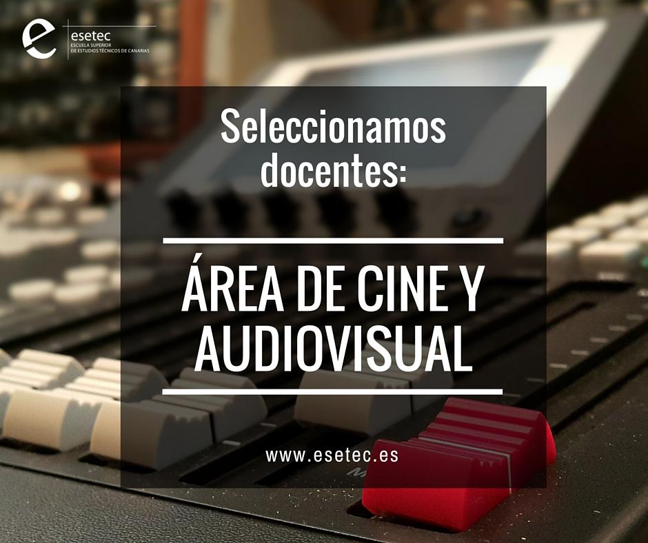 docentes área de cine y audiovisual