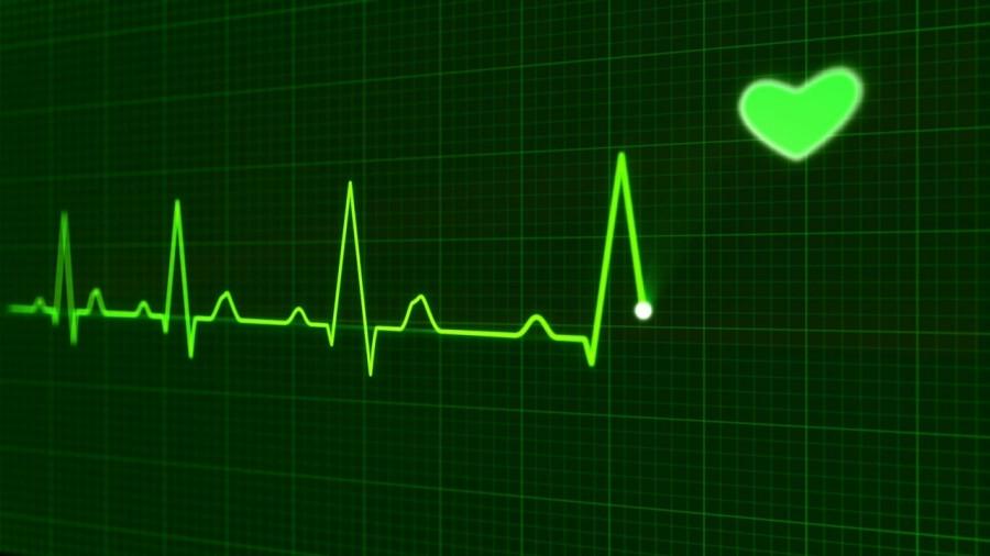Corazón latiendo monitorizado